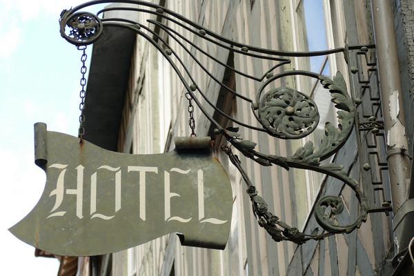 Altes Hotelschild