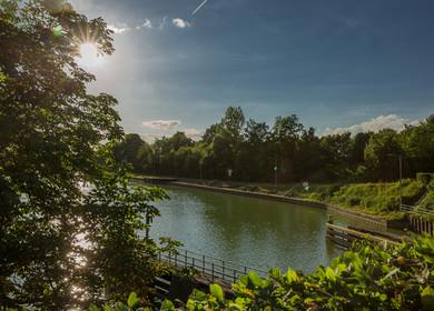 Stimmungsvoller Blick auf den Kanal am Bevergerner Pättken.