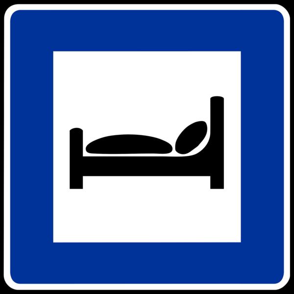Verkehrsschild Übernachten