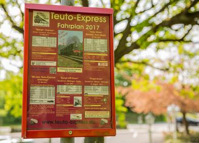 Fahrplan des Teuto Express von 2017
