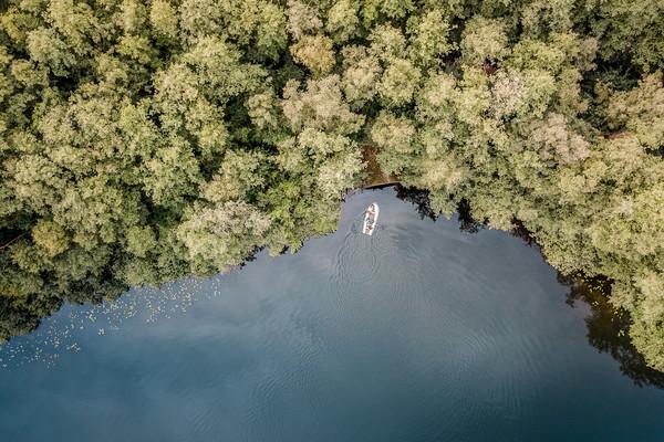 Luftaufnahme vom Heiligen Meer