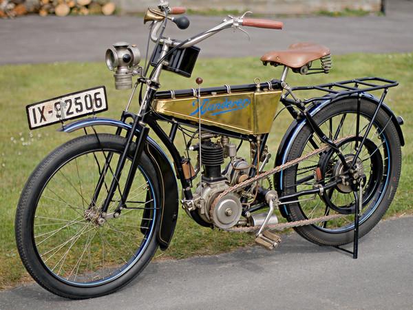 Historischen Motorrad