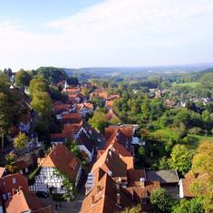 Die zweite Etappe des Hermannsweges führt durch die Altstadt von Tecklenburg.