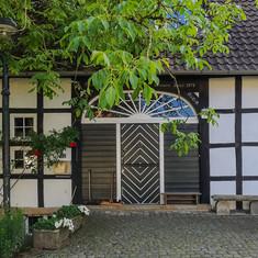 Fachwerkhaus beim Wasserschloss Haus Marck
